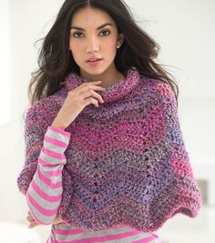 Learn how to crochet a softly rippled poncho, great for any season! Whip up this poncho in your favorite color with this FREE pattern! | Free Crochet pattern | Crochet fashion
