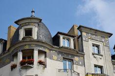 Immeuble Poirier, détails de la façade, mosaïques de Odorico