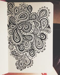 One of my favorite designs, done with micron pens on a 3.5 x 5.5 moleskine sketchbook.