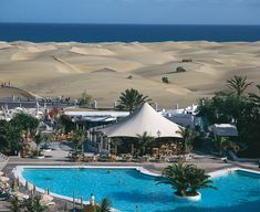 Grand Canary Island, located in the Atlantic Ocean by the northwestern coast of Africa has the most beautiful sand dunes you can ever see