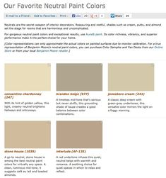 Favorite, popular, & best selling shades of neutral paint colors from Benjamin Moore.