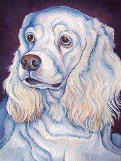 Custom Pet Portrait in Acrylic Paint on Canvas by bethanysalisbury, $170.00