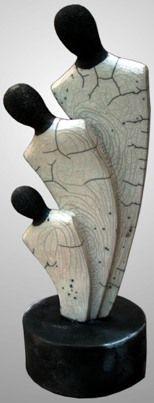 Raku-Keramik, h = 40 cm - Töpfern -. Pottery Painting Designs, Paint Designs, Modern Sculpture, Sculpture Art, Cement Art, Sculptures Céramiques, Raku Pottery, Clay Figures, Oeuvre D'art
