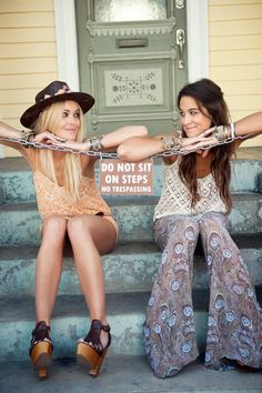 Partners in Crime......love the outfits but most of all love this pic if its two best friends or sisters too cute!