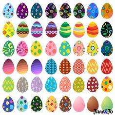 55 Easter egg clipart Egg clipartEaster Egg Clip a Egg Crafts, Easter Crafts, Arts And Crafts, Easter Art, Easter Eggs, Easter Decor, Egg Rock, Easter Egg Designs, Diy Ostern