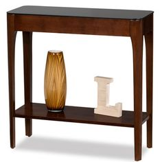 Obsidian Black Tempered Glass Hall Stand