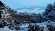 #AlhamaDeGranada in #Andalucia after a light morning winter snow