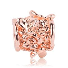 2019 New Rose Gold Blush Pink Magnolia Bloom Bead Fit Original Pandora Charms and Other Favorites - 2019 New Rose Gold Blush Pink Magnolia Bloom Bead Fit Original Pandora Charms and Other Favorites - Pandora Charms, Rose Gold Charms, Diy Jewelry Making, Blush Pink, Bloom, Charmed, Engagement Rings, The Originals, Beads