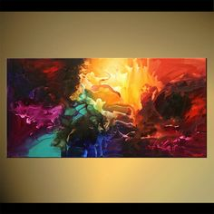 Modern abstract painting by the artist Osnat Tzadok. Choose from thousands of modern, contemporary and abstract paintings in this online art gallery. Artwork: 'The Wish', dimensions: Pintura Graffiti, Cool Paintings, Art Plastique, Online Art Gallery, Love Art, Oeuvre D'art, Painting Inspiration, Amazing Art, Art Drawings
