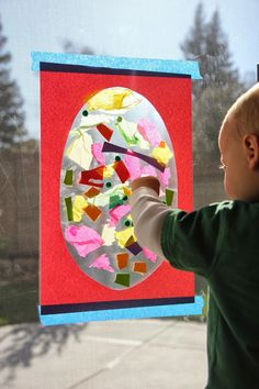 Toddler Approved!: Sticky Easter Egg for Toddlers