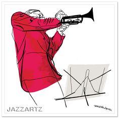 David Stone Martin jazz album cover prints by www.jazzartz.com starting at $350, via Flickr