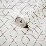 Superfresco Easy Gatsby Gold Geometric Metallic Effect Wallpaper | Departments | DIY at B&Q