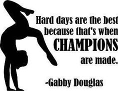 Gabby Douglas Gymnastic Quote Champions Vinyl Wall Decal Sticker Size  18 Inches X 20 Inches  22 Colors Available -- Check out the image by visiting the link.