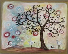 Lovebirds.  Painted for my son and his wife.