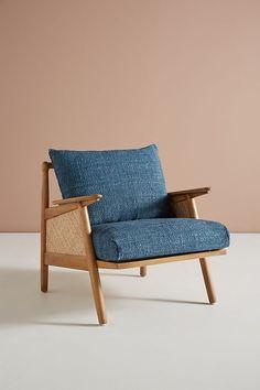 Linen Cane Chair