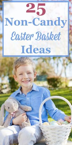 Here are 25 different non-candy Easter basket ideas you can use for filling up a fun gift basket without too much sugar. #ad