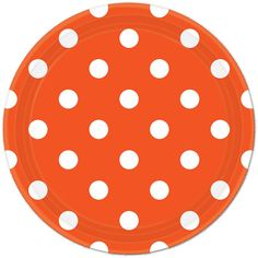 Orange Chevron Lunch Plates (8) check out the rest of our Orange party supplies!