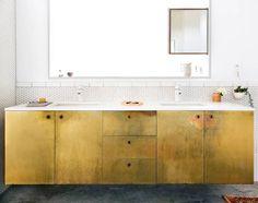 vintage brass bathroom vanity