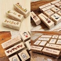 Wish   Scrapbooking Blessing Wood Stamps I Love You Happy Birthday Thank You Stamp Gift Scrapbooking 153-20-00065 (Size: 0, Color: Multicolor)