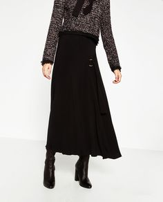 MIDI SKIRT WITH BUCKLE-View all-SKIRTS-WOMAN | ZARA Israel