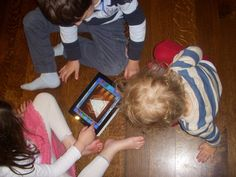 iPad game for kids, Snowflake Station.  Let your children explore symmetry, friendship, imagination & design.
