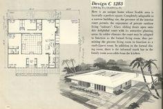 Урожай плани будинку, 1960-і роки будинок плани, плани середині століття будинку