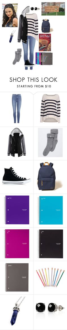"""First Day of School - Elizabeth Rivermore"" by fandomqueen-378 ❤ liked on Polyvore featuring Paige Denim, Velvet by Graham & Spencer, UGG, Converse, Hollister Co., ban.do, Bellini and Belk & Co."