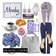 Monday (27/6/2016) by saopolyvore on Polyvore featuring ファッション, Michael Kors, AG Adriano Goldschmied, J.Crew, Maison Margiela, NOVICA, BeckSöndergaard, Casetify and Diane James