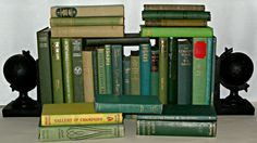 30 Various GREEN Hardback Books, Perfect for Display - Wedding Decoration Etc River Bank, Wedding Decorations, Table Decorations, Book Collection, Bookends, Display, Green, Ebay, Ideas