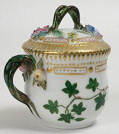 royal copenhagen flora danica | Flora Danica, Royal Copenhagen custard cup, 1916