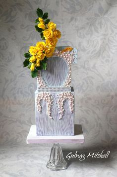 Fashion inspired cake, Givenchy dress 2011, worn by Cate Blanchett - Cake by Gulnaz Mitchell