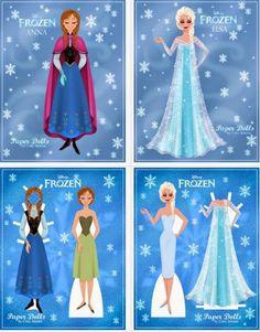 Las Recortables de Veva e Isabel: Frozen Elsa y Anna
