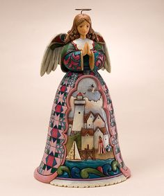 @Kendl Edgett  Thought of your mom with the lighthouse+angel!  Mothers Day! Take a look at this Summer Angel Figurine by Jim Shore on #zulily today!
