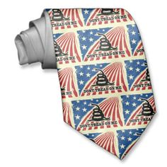Shop Don't Tread on Me Patriotic Neck Tie created by cutencomfy. Dont Tread On Me, Neck Ties, Custom Ties, Unique Image, Gentleman, Night Out, It Is Finished, American, Pattern