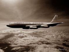 American Airlines B707 Boeing 707, Vintage Air, Air Travel, Airports, Airplanes, Transportation, Aviation, Aircraft, Birds