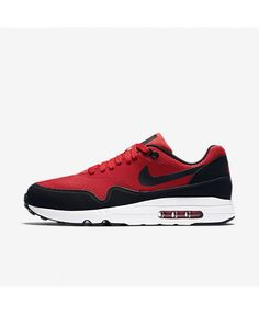 the best attitude d11ed 48fac Nike Men s Air Max 1 Ultra Essential University Red Black White Running  Shoe 11 Men US