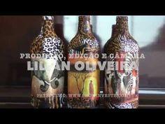 DIY : GARRAFAS DECORADAS COM TECIDO - reciclagem de garrafa - YouTube