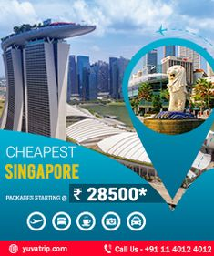 Book YT Singapore Tour Packages with best available price and discounts. With the finest range of affordable Singapore holiday packages you will get verity of your holidays according to your requirements. Singapore Packages, Singapore Tour Package, Banner Design, Flyer Design, Layout Design, Holiday In Singapore, Travel Directions, Social Media Design, Travel And Tourism