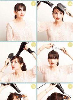 how to make a cute bang 【明日使えるまとめ髪】上品ふんわり前髪の作り方