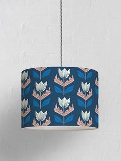 Elin Lampshade – Oxford Blue - Oxford Blue / Small (25Ø x 20cm High) / Ceiling