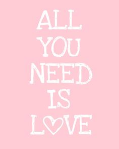 Here Comes the Sun: All You Need is Love Free Printable