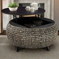 Beachcrest Home Nobles Coffee Table Tire Furniture, Types Of Furniture, Home Decor Furniture, Furniture Projects, Rustic Furniture, Diy Home Decor, Furniture Design, Furniture Stores, Diy Coffee Table