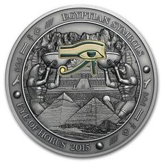 Call to order 2015 Palau 3 oz Silver Gilded Egyptian Symbols (Eye of Horus) at APMEX. We offer competitive Silver prices on Silver Coins & Other (Palau) and secure online ordering. Egyptian Symbols, Egyptian Art, Old Egypt, Ancient Egypt, Old Coins, Rare Coins, Rare Coin Values, Gold And Silver Coins, Silver Bullion