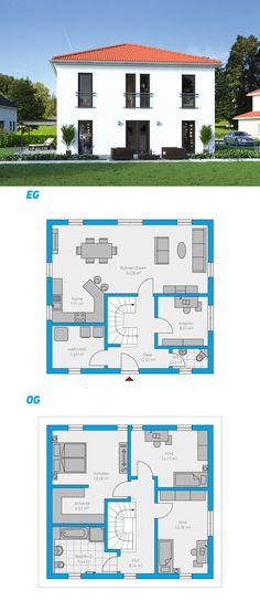 Edita 141 - schlüsselfertiges Massivhaus#spektralhaus #ingutenwänden #2geschossig #Grundriss #Hausbau #Massivhaus #Steinmassivhaus #Steinhaus #schlüsselfertig #neubau #eigenheim #traumhaus #ausbauhaus
