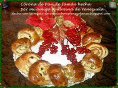 Pan de Jamón y Corona de Pan de Jamón hechos con la receta de mi blog