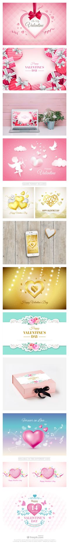 Free Download : A Huge Set Of Valentine's Day Backgrounds