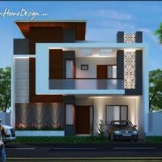 Architecture Home Design Projects Inspirations for Yours Glory Architecture House Elevation Islamabad Exterior 4 Plan Elevations Bungalow House Design, House Front Design, Small House Design, Modern House Design, Front Elevation Designs, House Elevation, Building Elevation, Facade Design, Exterior Design