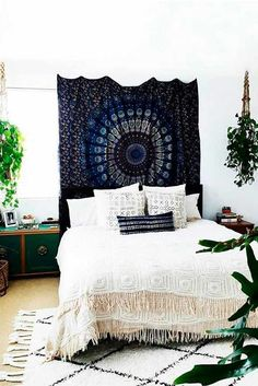 18 Bohemian Bedroom Decoration Ideas A fancy bohemian bedroom can help you to express your personality. Reach out to a hippie trapped inside you and create a special atmosphere in your bedroom which is not only creative and interesting, but also warm and cozy. http://glaminati.com/bohemian-bedroom-decoration-ideas/