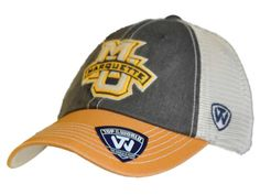 Marquette Golden Eagles Top of the World Navy Yellow Offroad Snapback Hat Cap
