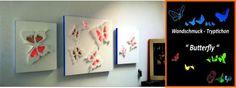 """Wandschmuck - Tryptichon """" Butterfly """" von FST Dekorationstechnik  auf DaWanda.com"""